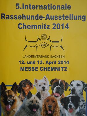 CACIB Chemnitz 2014<br>5. Internationale Rassehunde-Ausstellung<br>13. April 2014